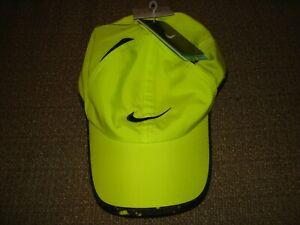 NWT Nike Feather Light NikeFit Hat Cap Tennis 611810-303 Yellow RARE