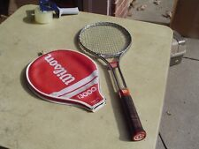 Wilson T3000 Steel Tennis Racquet Early 70's w 4 1/2 Light Leather Grip + Cover