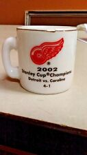 NHL STANLEY CUP CRAZY MINI MUG DETROIT RED WINGS 2002 CHAMPS W/OPPONENT & SCORE