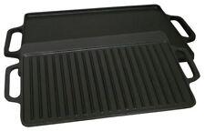 Piccolo antiaderente in ghisa reversibile Bistecca Griglia Piastra Barbecue INDOOR PIANO COTTURA CUCINA