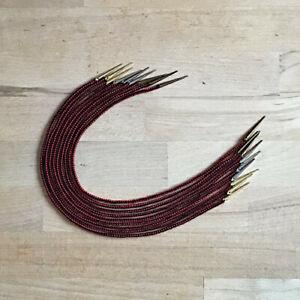 Gewandung Mittelalter LARP Nestelschnüre schwarz-rot 100%Wolle mit Nestelspitzen