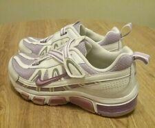 Nike Youth Shoes T-Run Running Purple Whit Hook & Loop 336470-551 Sz 5.5Y