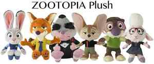 Disney Zootopia Plush 7 1/2inch - 5 to choose from