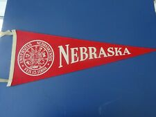 1950's Nebraska Large Football Pennant