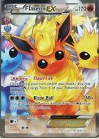 FULL ART Flareon EX ULTRA RARE Pokemon RC28/RC32 Generations Radiant Collection