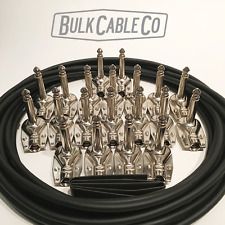 PEDAL BOARD KIT - 10 FX CABLES - 15' MOGAMI 2319 CABLE - 20 GLS PANCAKE PLUGS