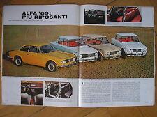 AILE ROMEO 1969 GT 1300 JUNIOR GIULIA TI SUPER 1600 S MAGAZINE DE COLLECTION