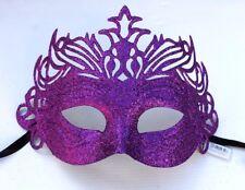 Purple Unisex Glitter Venetian Masquerade Party Prom Carnival Eye Mask