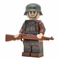 Lego Custom WW2 Soldier in Autumn Dot 44 Camo minifigure - Full Printing kar98k