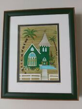 Mary Lucas framed fiber art Hawaii