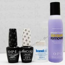 OPI GelColor Gel Soak-Off BASE + TOP COAT+ pH BondAid Bond Aid 1oz + Remover 4oz