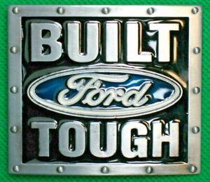 """Belt Buckle """"BUILT FORD TOUGH"""" Fit 4 cm Wide Belt DIY Custom Metal Casting."""