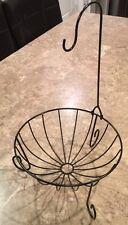 Kitchen Metal Fruit Basket with Detachable Banana Hanger Holder Hook