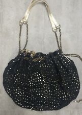 Pretty Black and Gold Handbag Broderie Anglaise LOLLIPOPS Perfect for Fedtivals