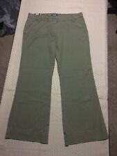 Bitten Sarah Jessica Parker Woman's Olive Low Rise Trouser Chino Pants 12 NWT