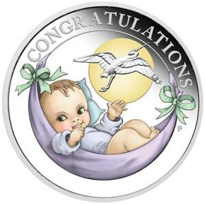 Australien - 50 Cents 2019 - Storch - New Born Baby - 1/2 Oz Silber PP