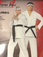 Cobra Kai The Karate Kid Daniel Halloween Costume Cosplay Adult Small/Medium