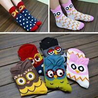 unisexe les femmes le coton l'hiver chaud cartoon owl chaussettes animal pour