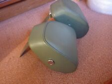 ROVER P5 3-Litre Mk3 Front headrests.  Green leather with reading lights.