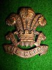 The Welch Regiment Officer's Bronze Cap or Collar Badge, WW2