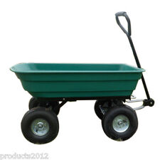 Garden Tipping Cart large 75 liters Dump Truck Wheelbarrow Sack Trolley Trailer