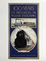 1933 -- 100 Years in Railroading Booklet by Pennsylvania Railroad