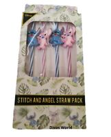 Disney Stitch And Angel Straw Pack Reusable Straws Pack Of 4 Primark