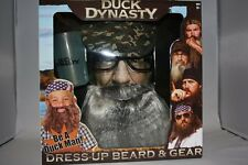 DUCK DYNASTY UNCLE SI DRESSUP BEARD TEA CUP HAT GLASSES HALLOWEEN COSTUME NEW