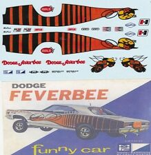 DODGE FEVERBEE Funny Car 1968-69 1/25th - 1/24th Scale WATERSLIDE DECALS