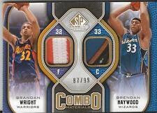 Brandan Wright Brendan Haywood 2009 SP Game Used Combo Patch 87/99 CPHW 5 Color