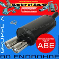 MASTER OF SOUND SPORTAUSPUFF OPEL ASTRA F CABRIO 1.4L 1.6L 1.8L 16V 2.0