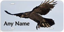 Black Crow Novelty Aluminum Personalized Any Text Car Auto License Plate P01