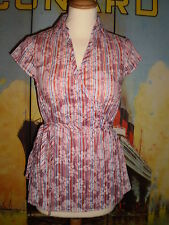 💕  SEXY WRAP CASUAL or PARTY TUNIC TOP SIZE 8 💕