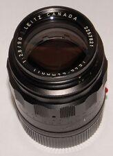 90mm Tele-Elmarit f/2.8 M-mount first version 1968 Leitz Leica Canada black.