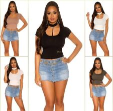 Sexy KouCla Basic Crop Shirt Top T-Shirt