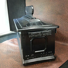 Black Cast Aluminum Replacement Mailbox-curved top design w/name/address plate