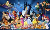 Disney Character Princess Removable Sticker Wall Decals Kids Nursery Decor Mural