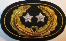 Civil War Slouch Hat Insignia - Major General's Large w/ Free $20 Double Eagle