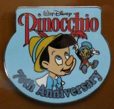 Walt Disney Pin 70th Anniversary Pinocchio and Jiminy Pin Gwp Le