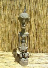 """African Songye Power Figure Nkishi Fetish From The Drc 43"""" Tall"""