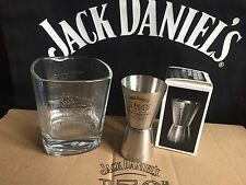 JACK DANIELS 150th BIRTHDAY ANNIVERSARY GLASS + STAINLESS 15OTH SHOT MEASURE