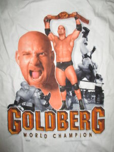 Logotel Label - 1998 WCW GOLDBERG World Champion (LG) T-Shirt The Longest Yard