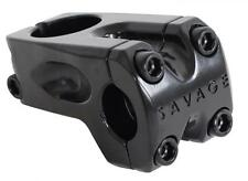 Savage BMX Bike Front Loading 28.6mm Steerer 22.2mm Handlebar A Head Stem Black