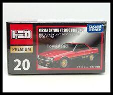 TOMICA PREMIUM 20 NISSAN SKYLINE HT 2000 TURBO RS 1/63 TOMY DIECAST CAR