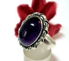 Wundervoller Amethyst Ring 835 Silber Fingerring old silver / ch 468