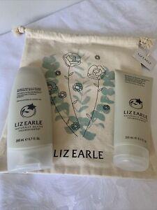 LIZ EARLE~BAG+Bourbon Vanilla&Clove Bud Botanical Body Wash&Cream ea200ml-BN
