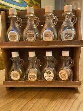Vintage 8 Set Watkins 2 oz. extract flavor glass bottles Old With Shelf