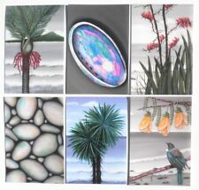Nikau Paua Flax Tui Kowhai Cabbage T NZ Maori -6 Prints of my Original Paintings