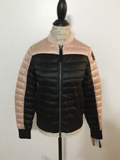 NWT Women's PARAJUMPERS Sharyl B.C. Colorblock Down Jacket, Small, Black/P. Pink