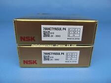 NSK 7004CTYNSULP4 Abec-7 Super Precision Angular Contact Bearing. Matched Pair
